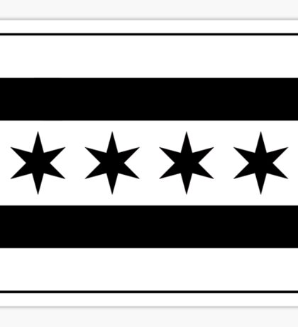 Chicago Flag - Black and White Sticker