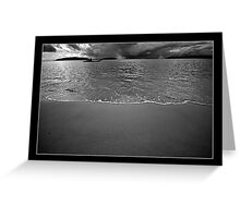 Tide (Black and White) Greeting Card