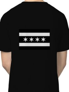 Chicago Flag - Inverted B&W Classic T-Shirt