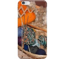 balls of wool in the basket iPhone Case/Skin