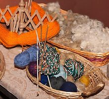 balls of wool in the basket by spetenfia