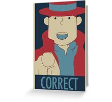 Correct, The Pointing Finger Greeting Card