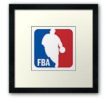 FBA (Fat man Basketball Association) Framed Print