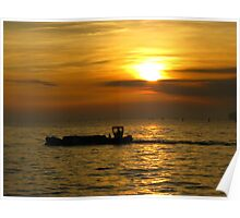 As the Sun goes down over Venice Poster