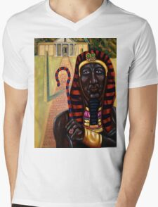 Taharqa Mens V-Neck T-Shirt