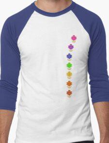 Chakra Lotuses Men's Baseball ¾ T-Shirt