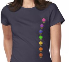 Chakra Lotuses Womens Fitted T-Shirt