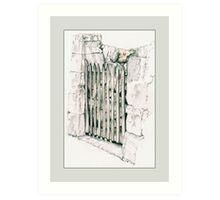 Closed Gate Art Print