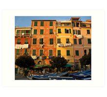 Colorful Vernazza Art Print