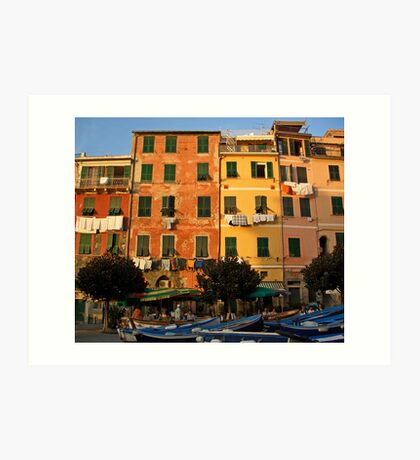 Colorful Vernazza Art Print