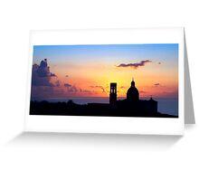 Sunset On Mtahleb Greeting Card