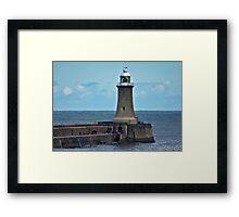 Harbour Light - Whitley Bay. Framed Print