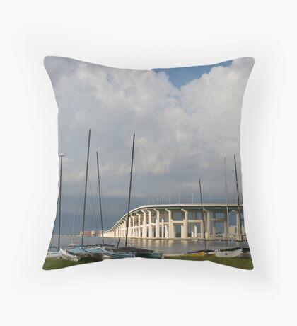 Biloxi - Ocean Springs Bridge Throw Pillow