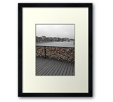Paris love Padlocks Framed Print
