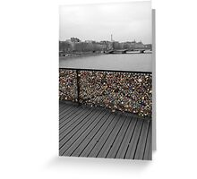 Paris love Padlocks Greeting Card