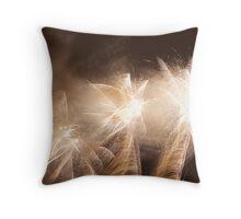 Firework palms Throw Pillow