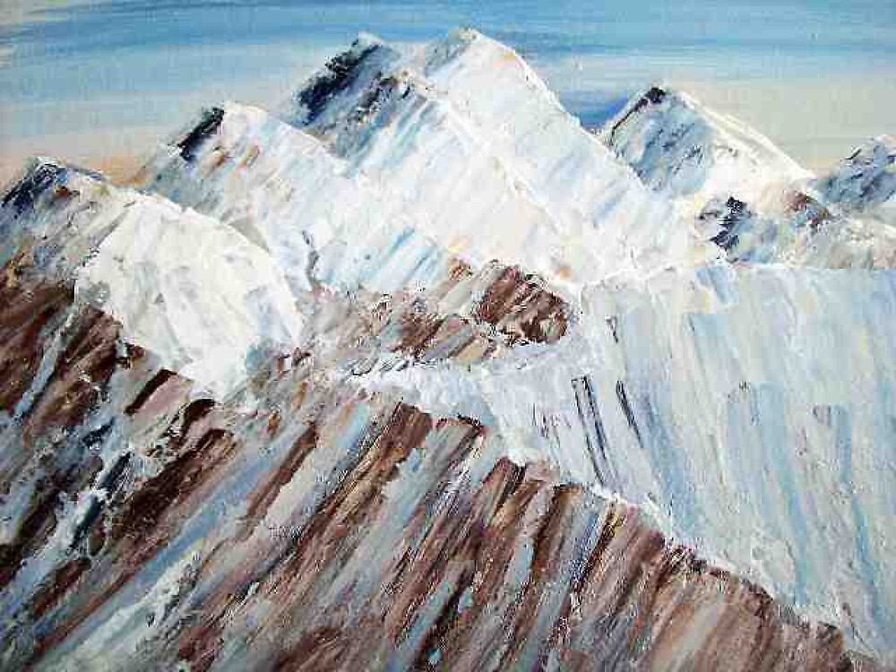 The Alps winter landscape oil painting by coolart