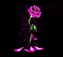 Beauty and The Beast Rose Flower by davinciart