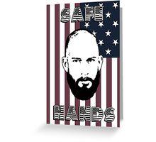Tim Howard Safe Hands Flag Greeting Card