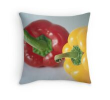 Twice the spice Throw Pillow