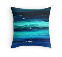 big blue deep Throw Pillow