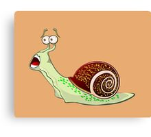 Scared Snail Canvas Print