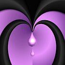 Black Hearts Cry Purple Tears by Greta  McLaughlin