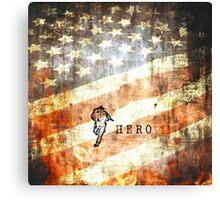 American Firefighter Hero Canvas Print