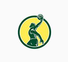 Basketball Player Dunk Ball Circle Retro Unisex T-Shirt