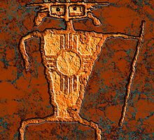 Petroglyph Warrior by Sena