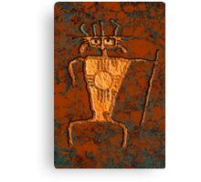 Petroglyph Warrior Canvas Print