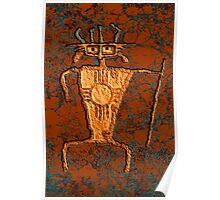 Petroglyph Warrior Poster