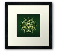 Zelda Triforce Art Logo Framed Print