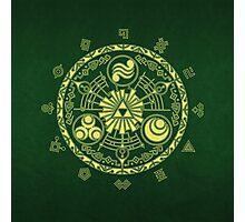 Zelda Triforce Art Logo Photographic Print