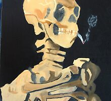 Van Gogh's Smoking Skeleton by Mylojs