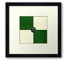 Slytherin Grunge Framed Print