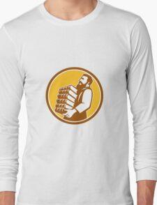 Saint Jerome Carrying Books Retro Long Sleeve T-Shirt