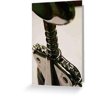 wine bottle opener Greeting Card