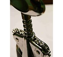 wine bottle opener Photographic Print
