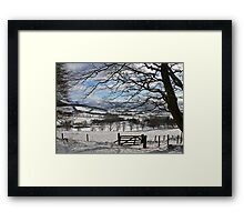 valley view  too Framed Print