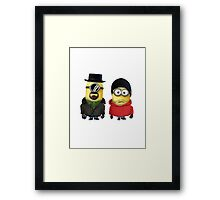 Minions Walter & Jesse Breaking Bad Framed Print