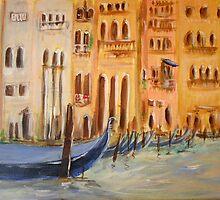 Resting Gondolas by Linda Ridpath