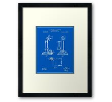 Telephone Patent - Blueprint Framed Print