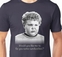 Would you like me to fix you some sandwiches (B+W) Unisex T-Shirt