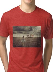 Light to guide you home Tri-blend T-Shirt
