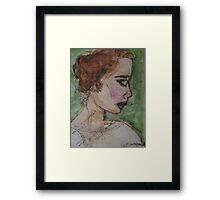 watercolor girl Framed Print