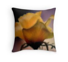 GLASS IMAGE; THE LIME ROSE Throw Pillow