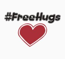 Free Hugs (hashtag) Kids Clothes