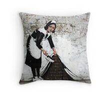 sweep it under the carpet Throw Pillow