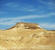 Table Top Mountain - Negev Desert - Israel by Tiviet